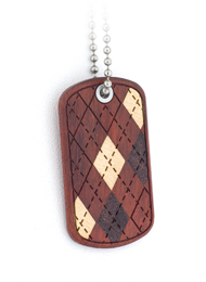 Argyle Dog Tags
