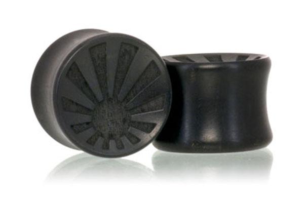 Concave Sun Plugs - Ebony
