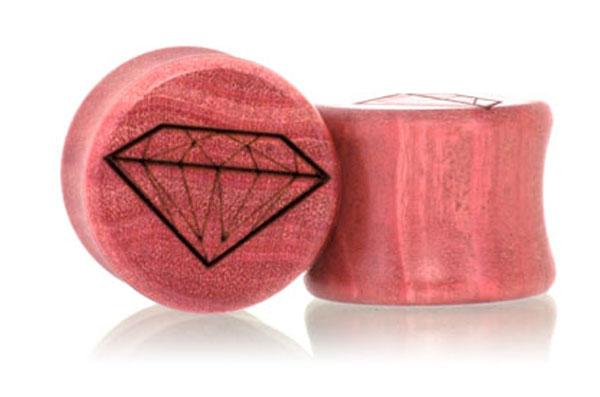 Diamond Plugs - Pink Ivory