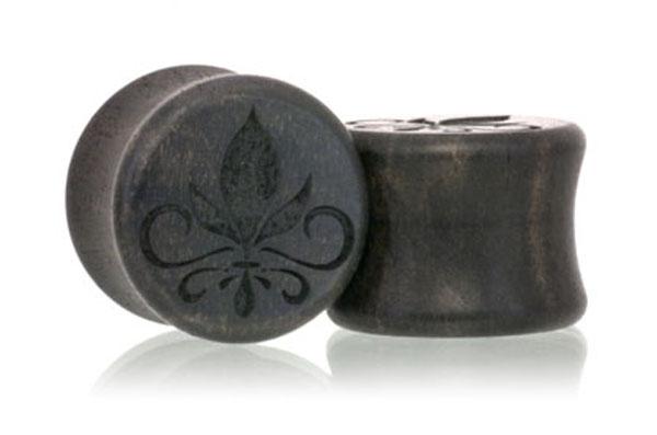 Fleur De Lis Plugs - Gaboon Ebony