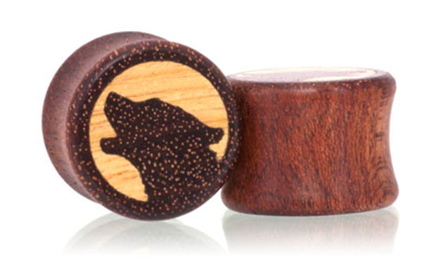Howl Wolf Plugs - Bloodwood