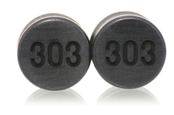 Initials Custom Plugs - Ebony