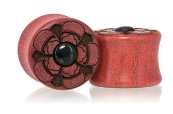 Pink Ivory / Onyx Lotus Plugs