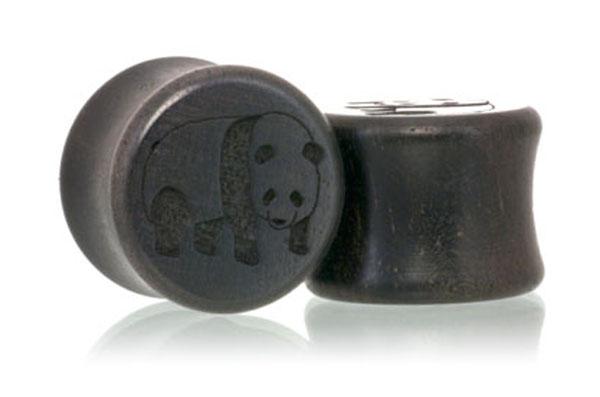 Panda Plugs - Ebony