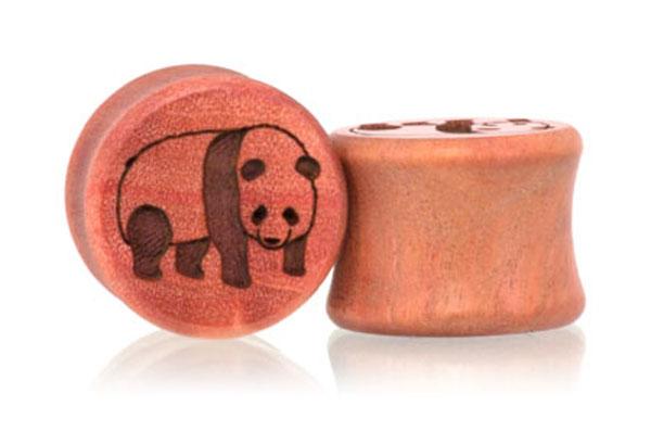 Panda Plugs - Pink Ivory