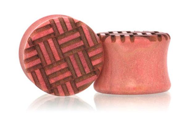 Parquet Pattern Plugs - Pink Ivory