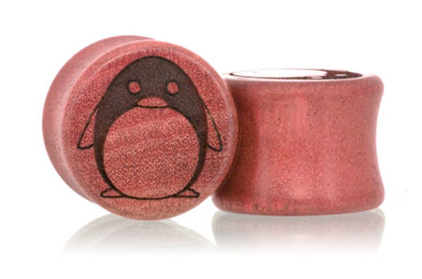 Penguin Plugs - Pink Ivory