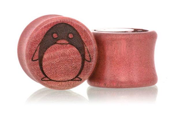 Penguin Plugs - Pink Ivory
