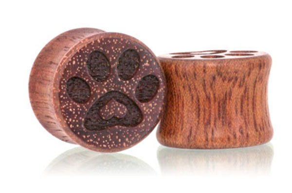 Puppy Love Paw Print Plugs - Bloodwood