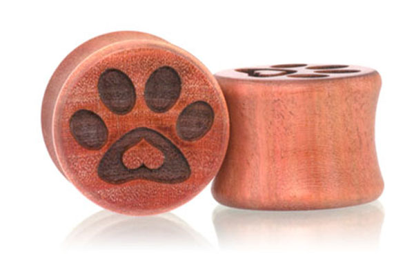 Puppy Love Paw Print Plugs - Pink Ivory