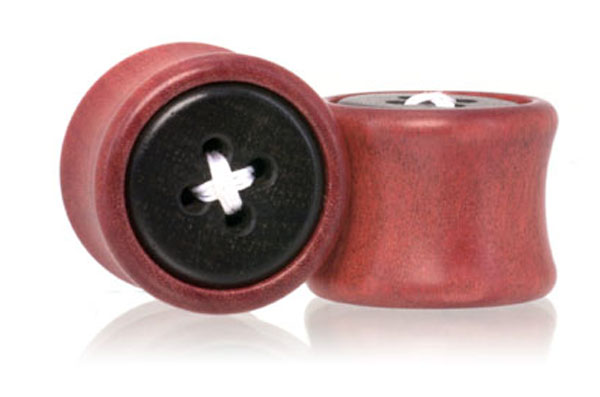 Thread Button Plugs - Pink Ivory