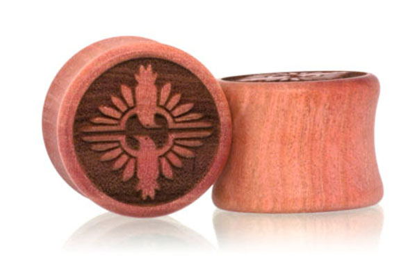 Birds Of A Feather Plugs - Pink Ivory
