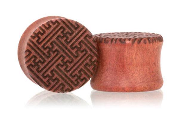 Sayagata Plugs - Pink Ivory