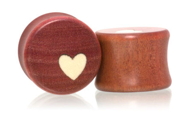 Side Heart Plugs - Pink Ivory