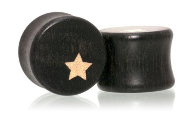 Side Star Plugs - Gaboon Ebony