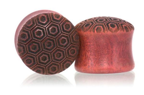 Turtleshell Plugs - Pink Ivory