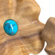 Flower Plugs Olive / Turquoise