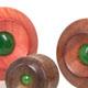 Chamfer Ebony / Jade Plugs