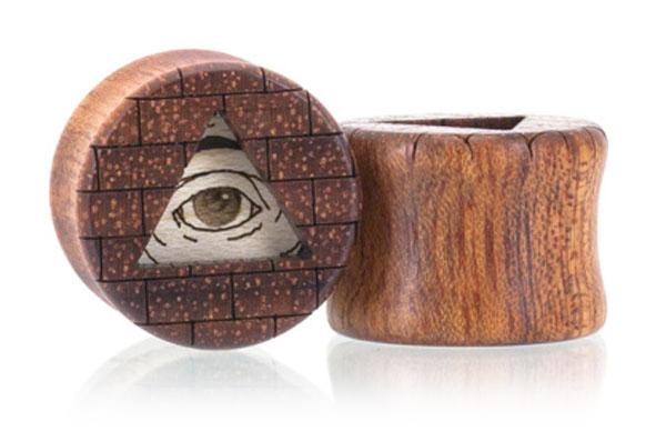 All-Seeing Eye Plugs - Bloodwood