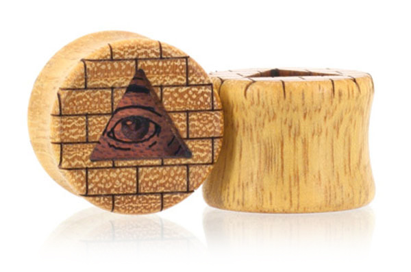 All-Seeing Eye Plugs - Osage Orange