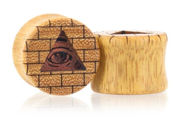 All-Seeing Eye Plugs - Osage Orange