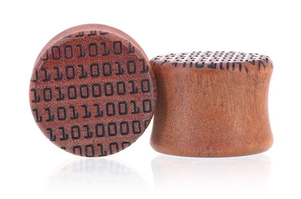 Binary Code Plugs - Pink Ivory