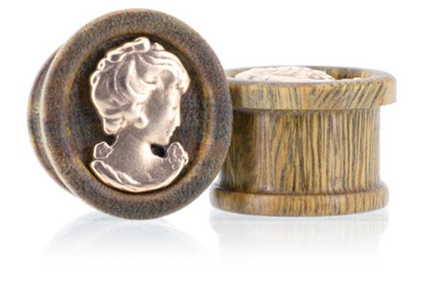Cameo Plugs - Vera & Bronze
