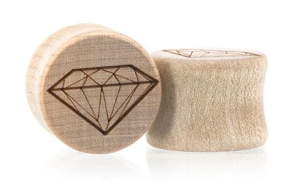 Diamond Plugs - Maple