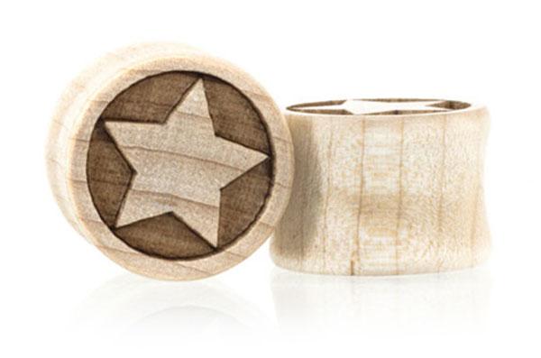 Eastwood Star Plugs - Maple