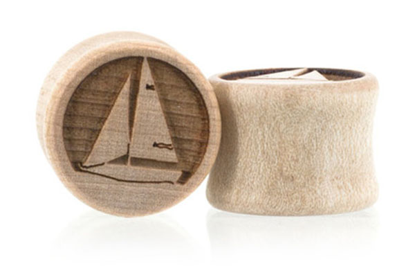 Even Keel Sailboat Plugs - Curly Maple