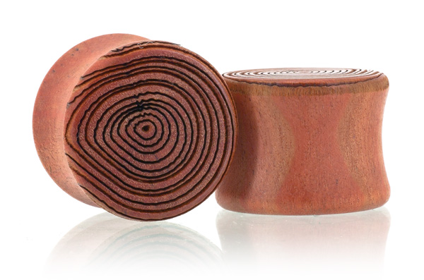 Growth Ring Plugs - Pink Ivory