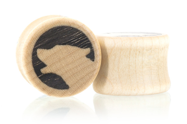 Howl Wolf Plugs - Curly Maple