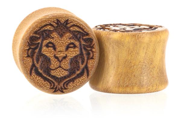 Man Eater Lion Plugs - Osage Orange