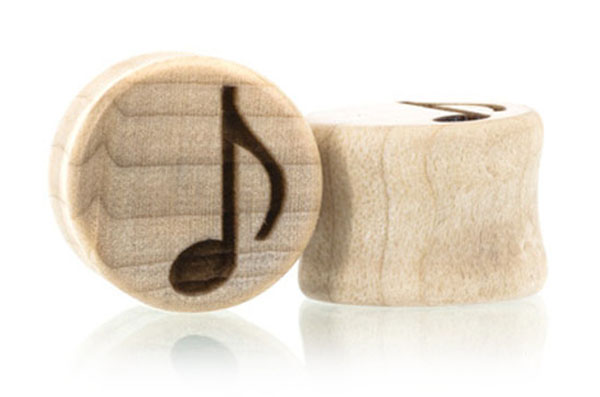 Music Lover Plugs - Maple