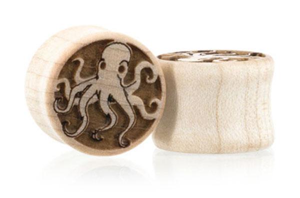 Octopi Plugs - Maple