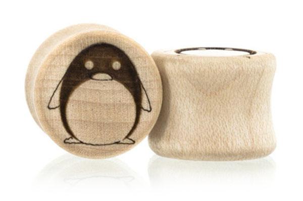 Penguin Plugs - Maple