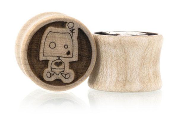 Robotsons Robot Plugs - Maple