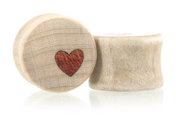 Side Heart Plugs - Maple