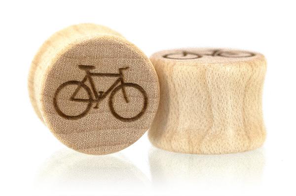 Bike More Plugs - Maple