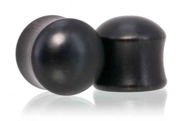 Ebony Convex Plugs