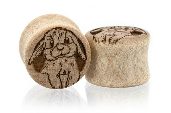 Bunny Plugs - Maple