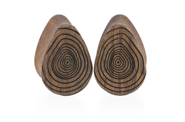 Growth Ring Teardrop Plugs - Chechen