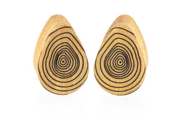 Growth Ring Teardrop Plugs - Osage