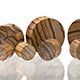 Zebrawood Concave Plugs